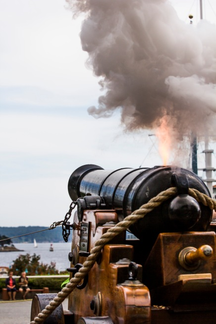 Cannon firing is daily at noon