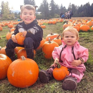 Pickin' the perfect pumpkin - you still have time to hit up McNab's!