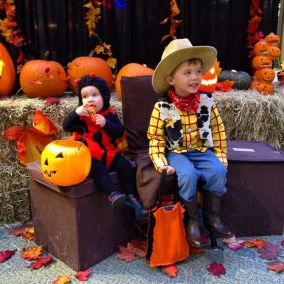 Megan's little monsters enjoyed trick or treating at Country Club Centre last year!