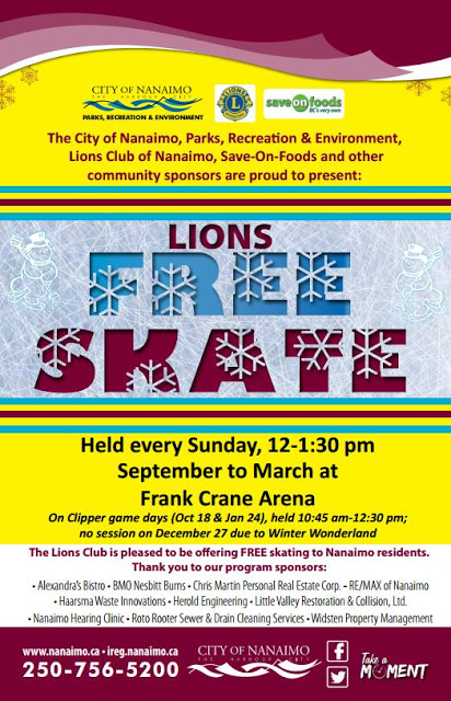 free skate nanaimo lions club city of nanaimo